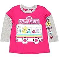 Sesame Street Elmo Girls Long Sleeve Tee (Baby/Toddler)
