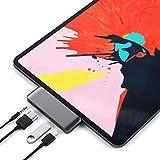 Satechi アルミニウム Type-C モバイル Proハブ USB-C PD充電 4K HDMI USB 3.0 3.5mm ヘッドホンジャック (2018 iPad Pro, Microsoft Surface Go対応) (スペースグレイ)