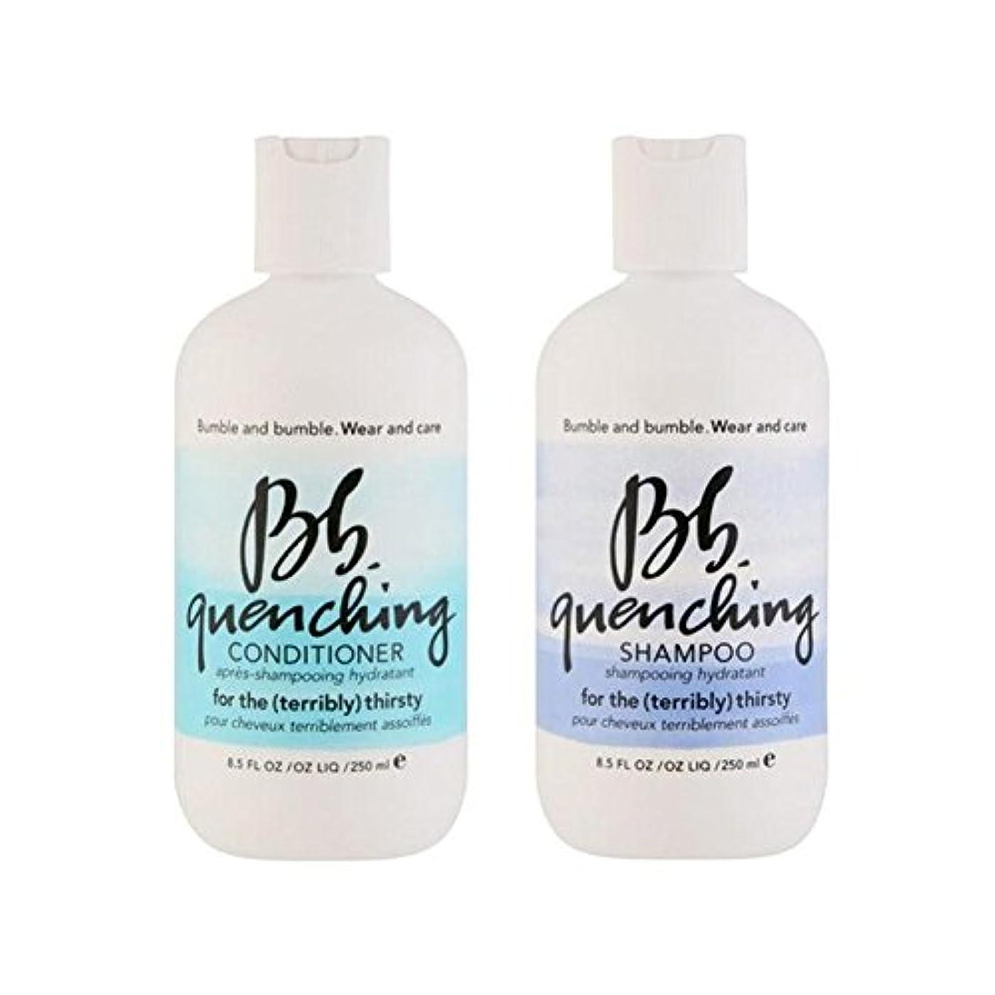 ガウン百万太字Bumble & Bumble Wear And Care Quenching Duo - Shampoo And Conditioner - シャンプーとコンディショナー - デュオを急冷着用し、世話 [並行輸入品]