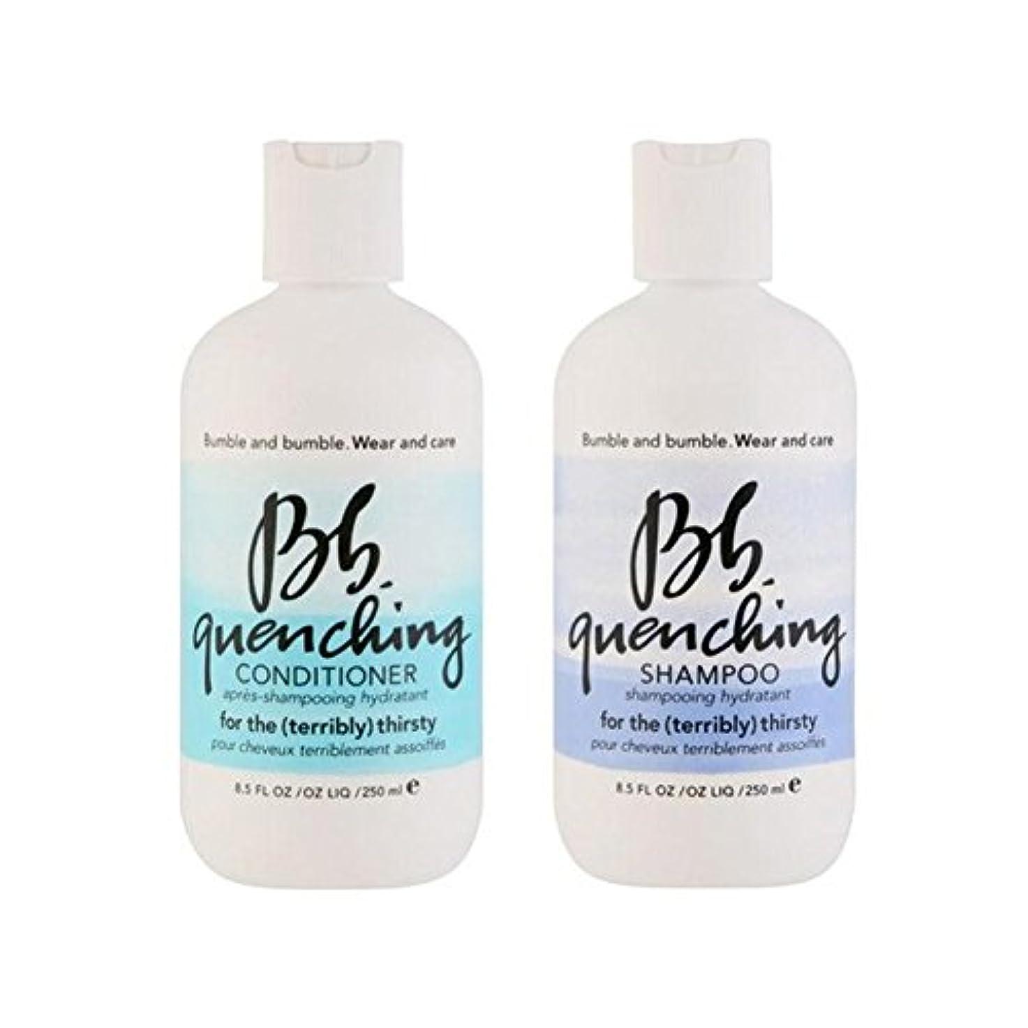 塗抹難民摂動シャンプーとコンディショナー - デュオを急冷着用し、世話 x4 - Bb Wear And Care Quenching Duo - Shampoo And Conditioner (Pack of 4) [並行輸入品]