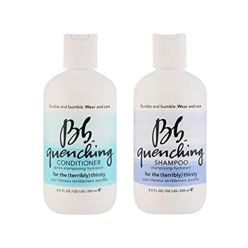 悪夢農学剪断Bumble & Bumble Wear And Care Quenching Duo - Shampoo And Conditioner - シャンプーとコンディショナー - デュオを急冷着用し、世話 [並行輸入品]