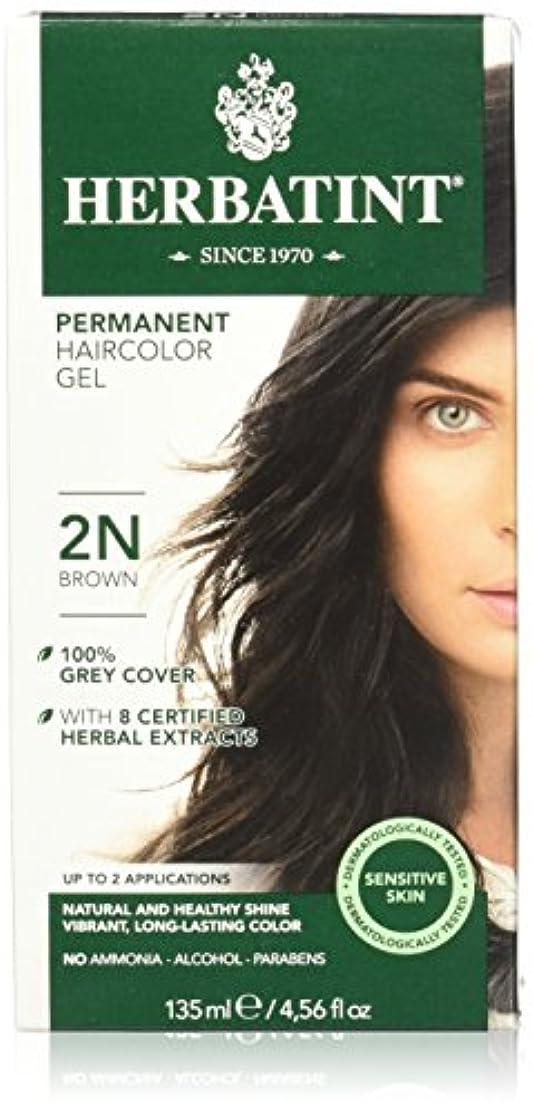 傾向があるましい電気技師Herbatint Permanent Herbal Haircolor Gel Brown (並行輸入品)