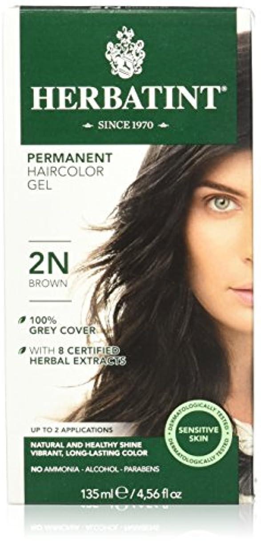匿名通信網浅いHerbatint Permanent Herbal Haircolor Gel Brown (並行輸入品)