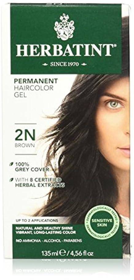 霧欠陥セントHerbatint Permanent Herbal Haircolor Gel Brown (並行輸入品)