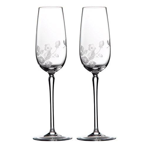 【正規輸入品】 ウェッジウッド ワイルド ストロベリー アルフレスコ シャンパン ペア WCA00002