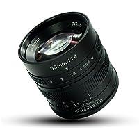 7artisans マイクロカメラレンズ55mm F1.4大口径肖像画マニュアルフォーカスFujifilm Fuji カメラ X-A1 X-A10 X-A2 X-A3 X-AT X-M1 XM2 X-T1 X-T10 X-T2 X-T20 X-Pro1 X-Pro2 X-E1 X-E2 X-E2s適用