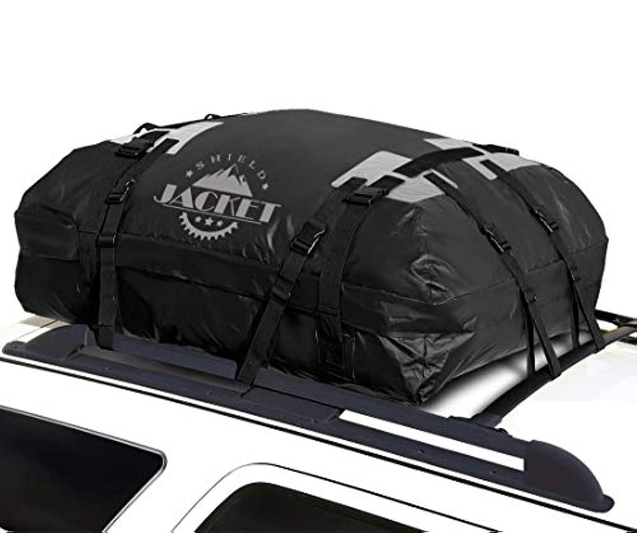 歯科医ベンチ締めるSHIELD JACKET Waterproof Roof Top Cargo Luggage Travel Bag (15 Cubic Feet) - Roof Top Cargo Carrier for Cars, Vans and SUVs - Great for Travel or Off-Roading - Double Vinyl Construction, Easy to Use [並行輸入品]