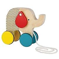 Petit Collage Jumping Jumbo Elephant Wood Pull Toy [並行輸入品]
