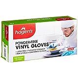 Hagen's Vg7B Powder-Free Blue Vinyl Gloves, M, 100 count