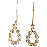 バージンダイヤモンド ダイヤ ピアス 天然ダイヤモンド しずく型 イエロー ゴールド プレゼント レディース パーティー 大人 かわいい 天然ダイヤ
