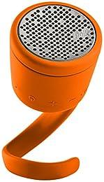 BOOM Swimmer DUO - Dirt, Shock, Waterproof Bluetooth Speaker with Stereo Pairing (Orange) by BOOM