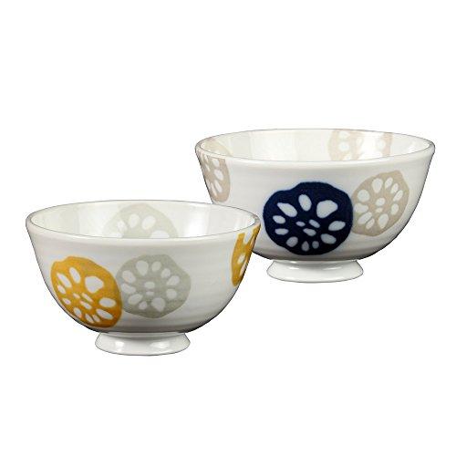 みのる陶器 レンコン 軽和 中平碗 ペアセット
