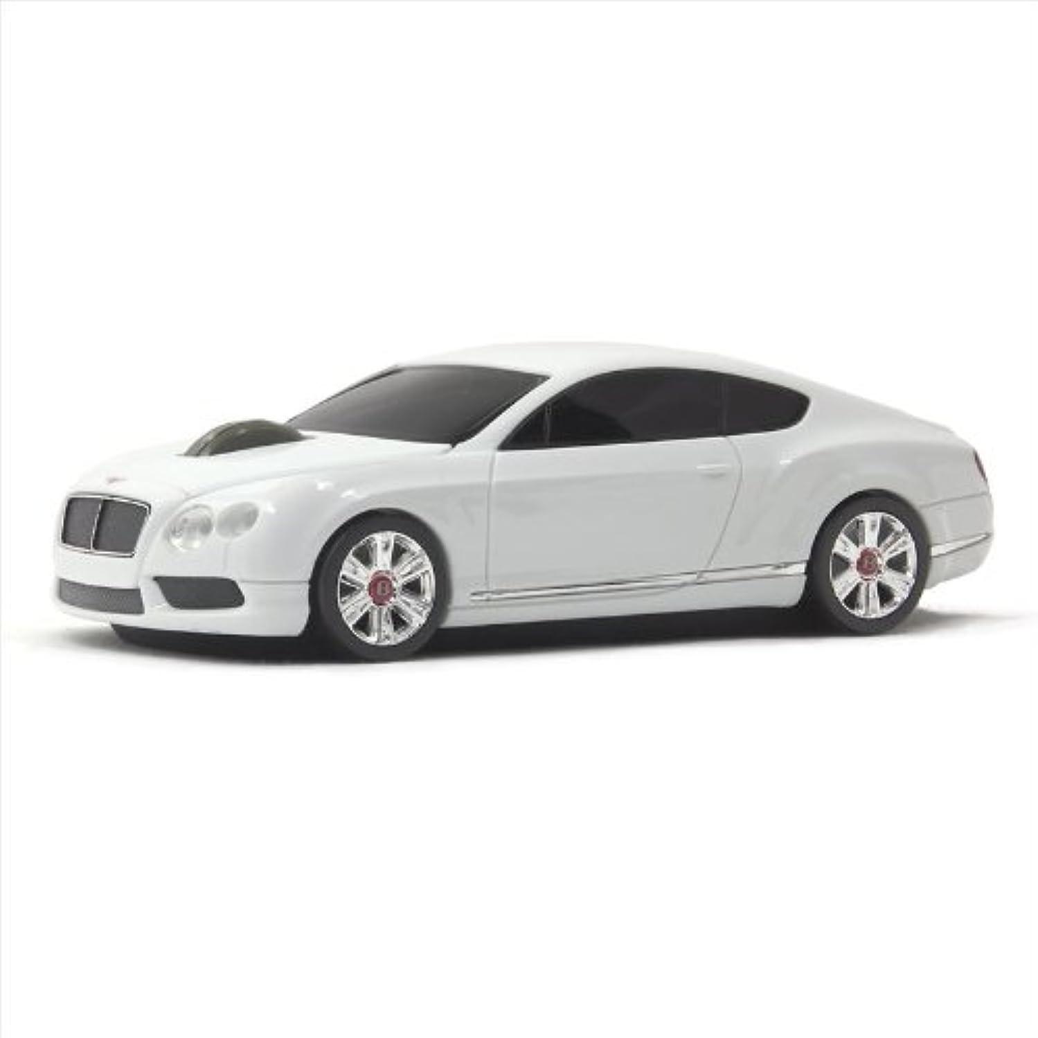 かかわらずひねくれたハッピーLumen ベントレー コンチネンタル ワイヤレス オプティカル カーマウス 1750dpi ホワイト/Bentley Continental GT V8 Wireless Optical Car Mouse Blue Eye Engine BT-GTV8-WH