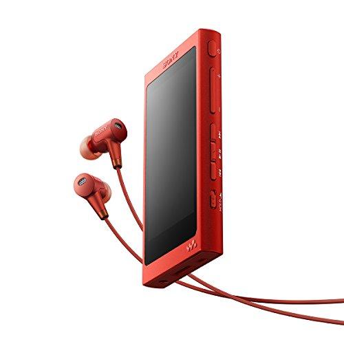ソニー SONY ウォークマン Aシリーズ NW-A37HN : 64GB ハイレゾ/Bluetooth/microSD対応 ノイズキャンセリング機能搭載 ハイレゾ対応イヤホン付属 シナバーレッド NW-A37HN R