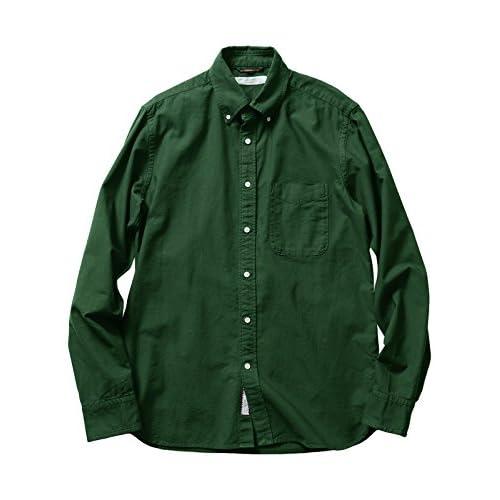 (ビームス ライツ) BEAMS LIGHTS ガーメントダイオックスフォードシャツ 51110391012  GREEN S