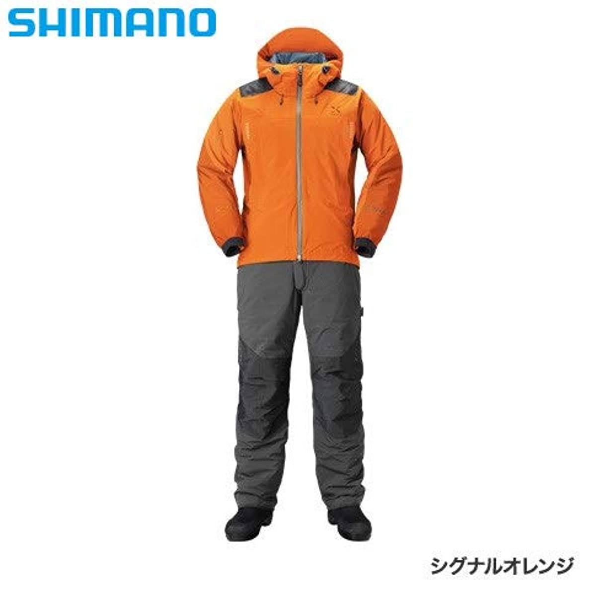 公園夕方集団的シマノ XEFO ストレッチ ストレッチ ウォームスーツ RB-224R シグナルオレンジ L