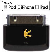 KOKKIA i10s black Apple公認iPod/iPhone/iPad用小型Bluetooth iPodトランスミッター(ブラック)リモートコントロールとiPod/iPhone/iPadローカルボリュームコントロール機能。プラグアンドプレイで、第6世代iPod Nano、第4世代iPod Touch、iPhone 4SとiPad 3で作動しベストフィット。
