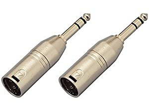 【2個セット】KC 変換コネクター CA310 XLR(M)/St-Phone(M) マイクからステレオ標準プラグへ変換