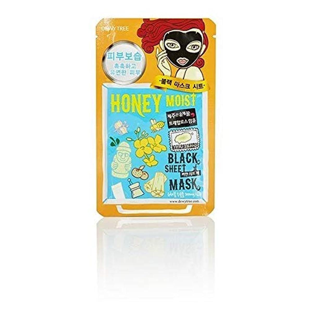 征服するとても多くの晴れ[Dewytree] Dewytree炭&はちみつ水分黒いシートマスク30グラム - Dewytree Charcoal & Honey Moisture Black Sheet Mask 30g [並行輸入品]