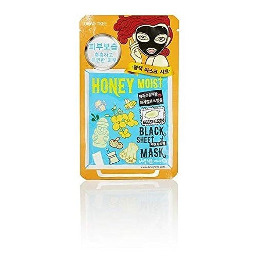 ネズミ子犬心配する[Dewytree] Dewytree炭&はちみつ水分黒いシートマスク30グラム - Dewytree Charcoal & Honey Moisture Black Sheet Mask 30g [並行輸入品]