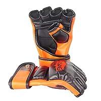 LIXADA ハーフフィンガーグローブ ボクシング 総合格闘技 キックボクシング トレーニング フィットネス メンズ レディース レザー