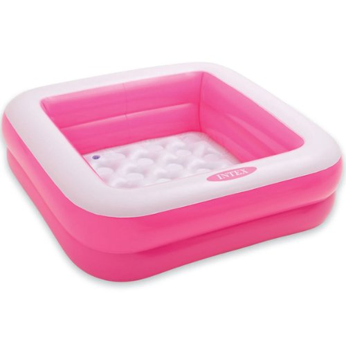 RoomClip商品情報 - INTEX(インテックス) プール プレイボックスプール 85cm×85cm×23cm ピンク 対象年齢:1歳~3歳まで swm-pl-57100pk