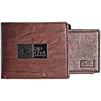 Rip Curl Men's STACKAWATU RFID 2 IN 1 Leather Wallet, Brown, One Size