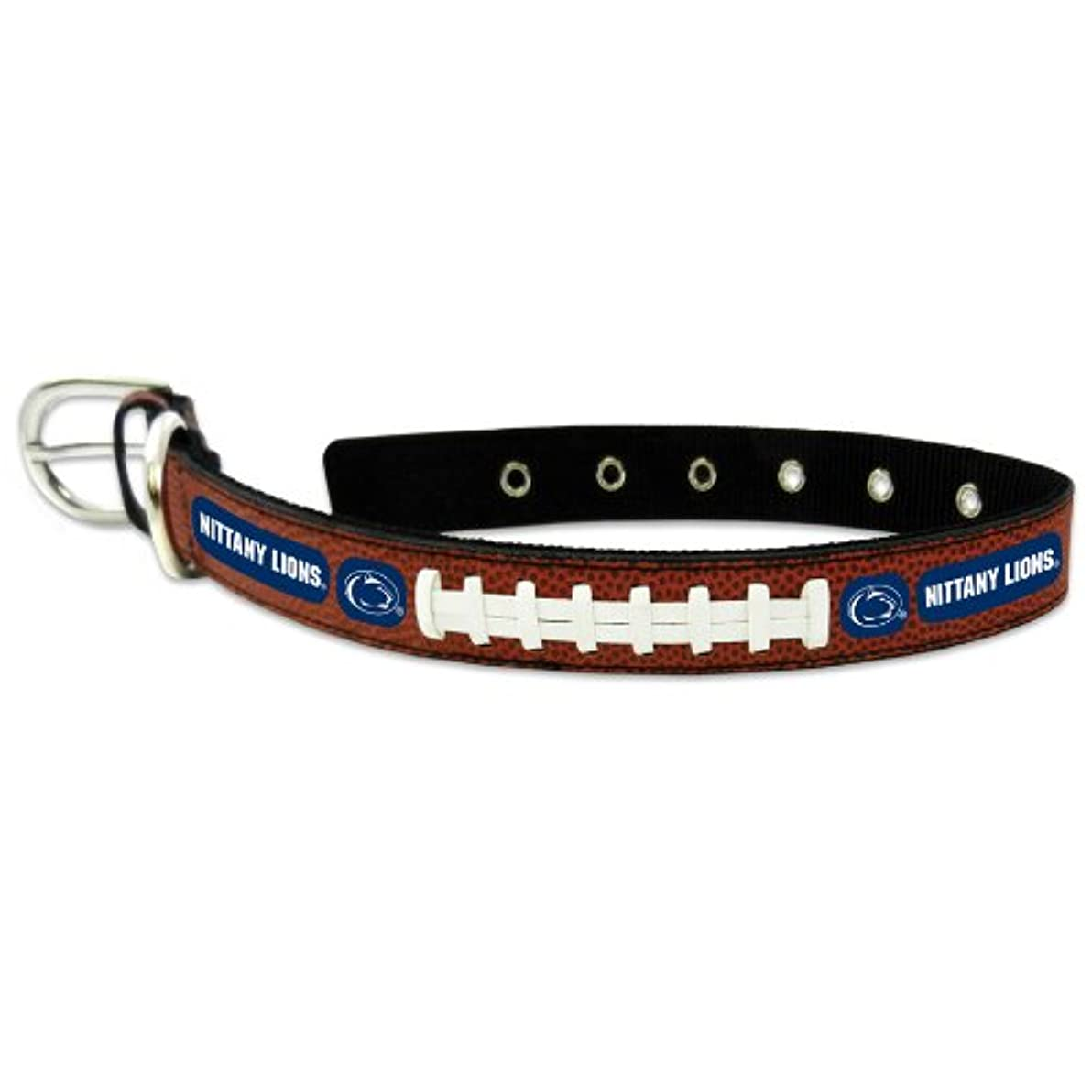 上院議員ネコ予感Penn State Nittany Lions Classic Leather Large Football Collar