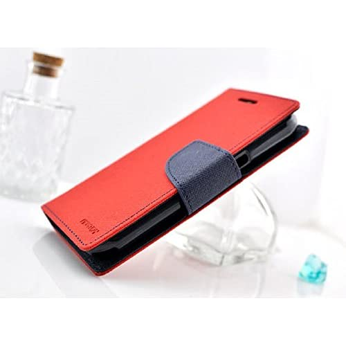iPhone6 ケース 手帳型 カード カラーいろいろ選べます お札 も入れられ便利 4.7インチ 用 (レッド・ネイビー)