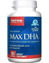 海外直送品 Jarrow Formulas Max DHA, 180 Softgel 607 MG
