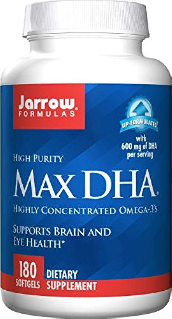 フェリー島ぼろ海外直送品 Jarrow Formulas Max DHA, 180 Softgel 607 MG