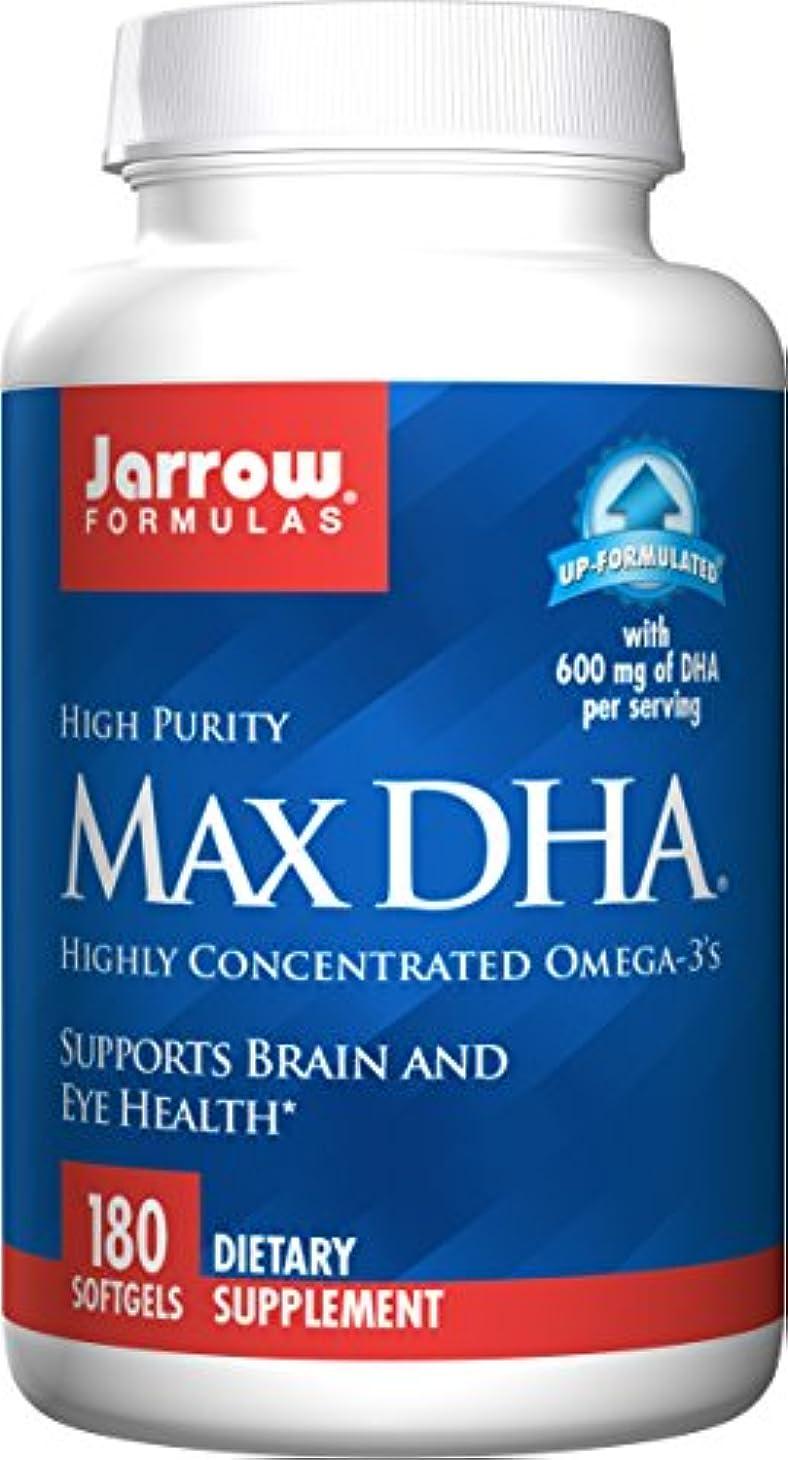 対話活性化福祉海外直送品 Jarrow Formulas Max DHA, 180 Softgel 607 MG