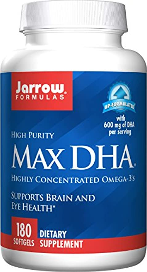 みぞれピッチ地理海外直送品 Jarrow Formulas Max DHA, 180 Softgel 607 MG