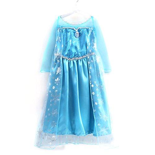アナと雪の女王 エルサ風ドレス 子供用 ドレス (100~1...