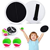 Qrooper Outdoor Games Toss and Catch Game Throw Game Kids Toys with Paddles, Balls and Storage Bag, Suitable for Beach Backya