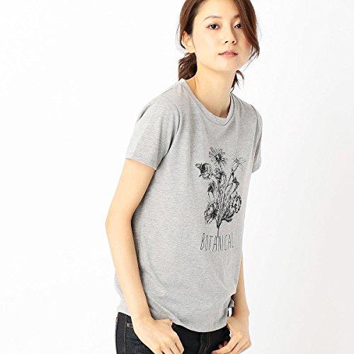 (コムサ イズム) COMME CA ISM ボタニカルプリント Tシャツ レディース S グレー