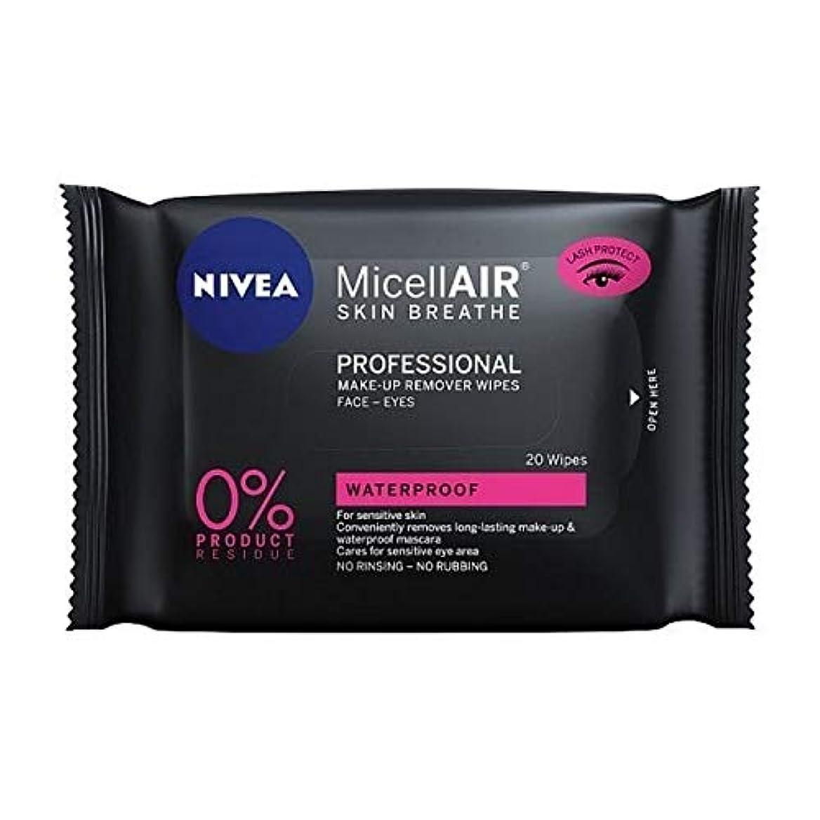 涙が出る花輪シェフ[Nivea ] ニベアMicellairプロミセルメイクアップは、20代をワイプ - NIVEA MicellAir Professional Micellar Make-Up Wipes 20s [並行輸入品]