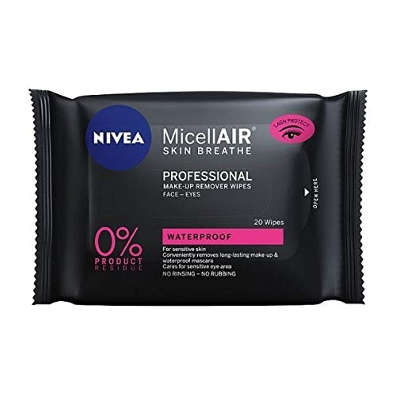 主要な切断するパステル[Nivea ] ニベアMicellairプロミセルメイクアップは、20代をワイプ - NIVEA MicellAir Professional Micellar Make-Up Wipes 20s [並行輸入品]