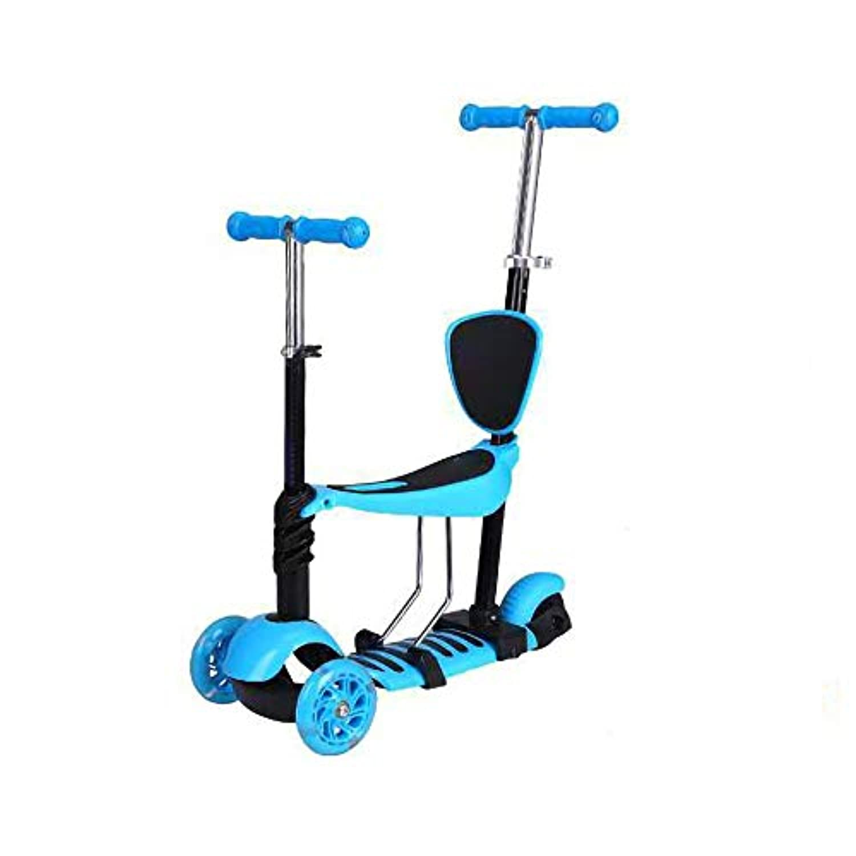 Runplayer 子供用三輪スクーター、ペダル自転車、調節可能、多目的スクーター、子供用自転車 ( Color : Blue )