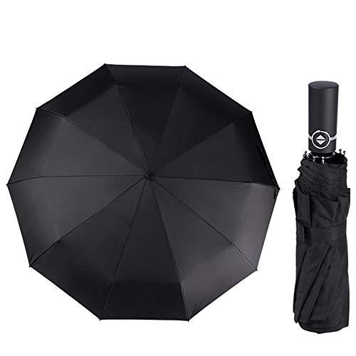 Divine Shield 折り畳み傘 折りたたみ傘 傘 メンズ レディース おりたたみ傘 自動開閉 ワンタッチ 軽量 210T 兼用 頑丈な傘骨 耐風撥水 晴雨兼用 雪 超吸収 傘カバー付き 超吸水 丈夫 大きい (10本骨-ブラック)