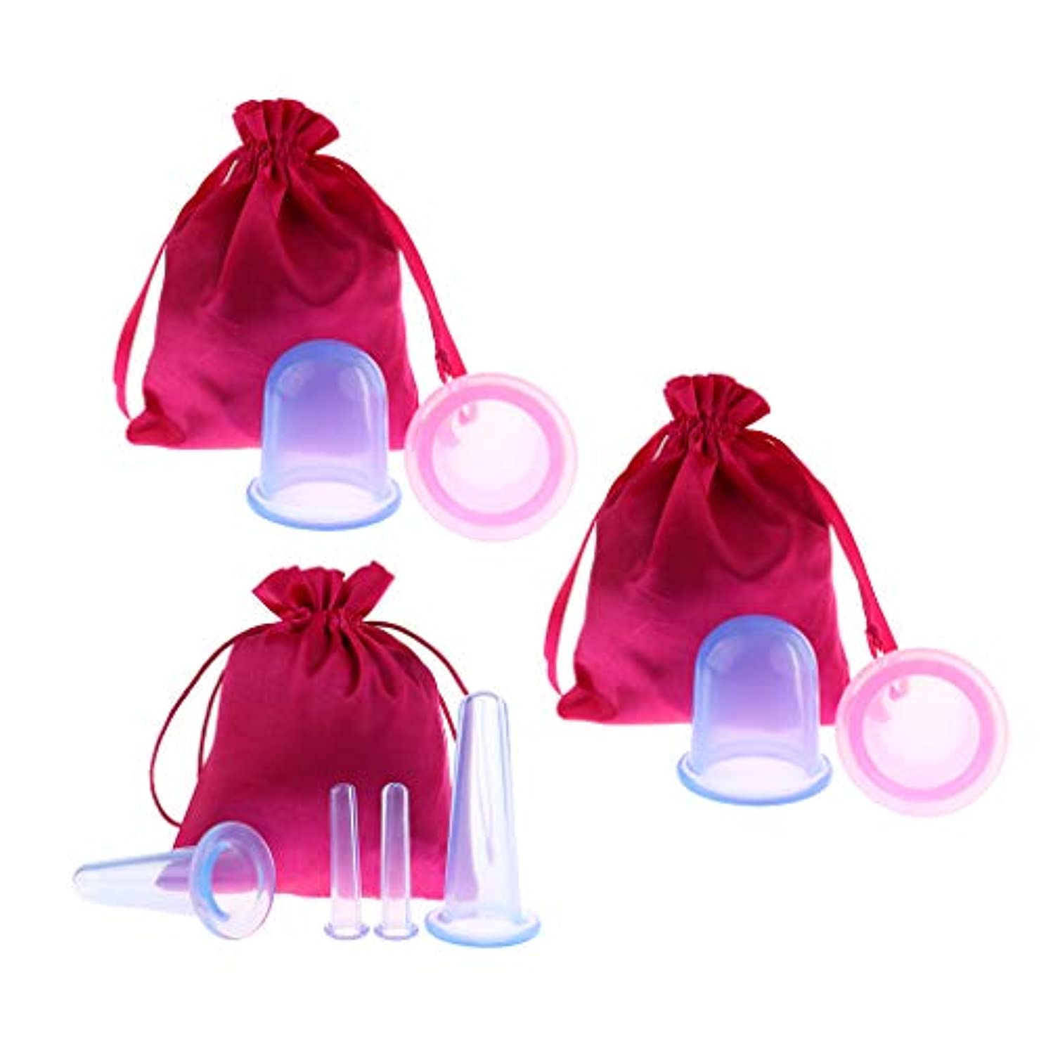 一般的な粘液カポックBaoblaze 8個 真空カッピングボディカップ シリコーン 美容院 スパ リラックス