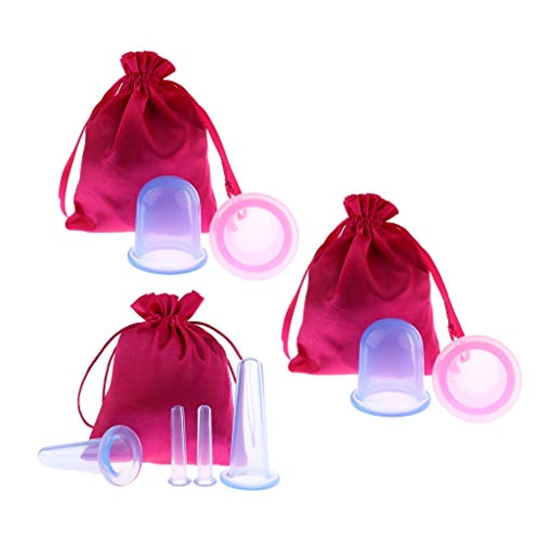 Baoblaze 8個 真空カッピングボディカップ シリコーン 美容院 スパ リラックス