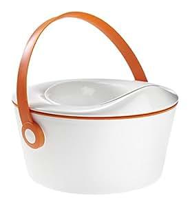 ドットポット オレンジ おまる&補助便座&ステップの3wayトイレトレーナー