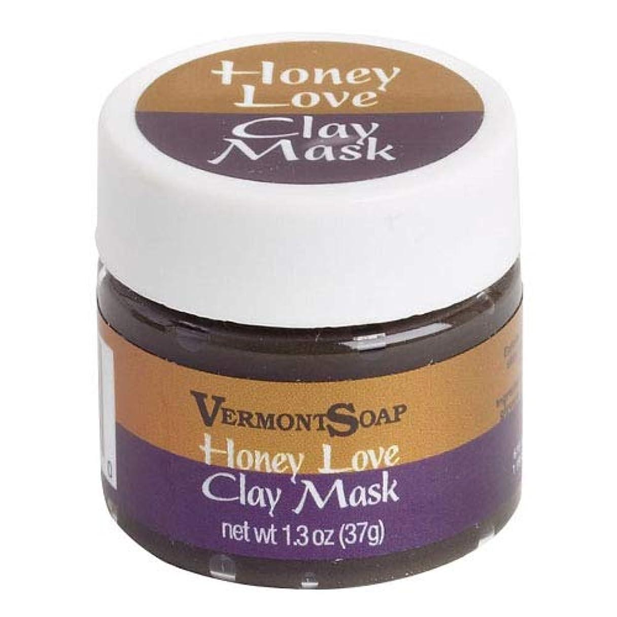 代替案部不安定なVermontSoap バーモントソープ ビューティーマスククレイ HONEY LOVE CLAY MASK (S) 37g