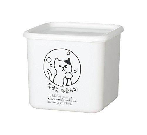 ソーキュースタイル ネコランドリー ランドリーボトル 白 ジェルボール ボックス ケース 詰め替え 洗剤 猫