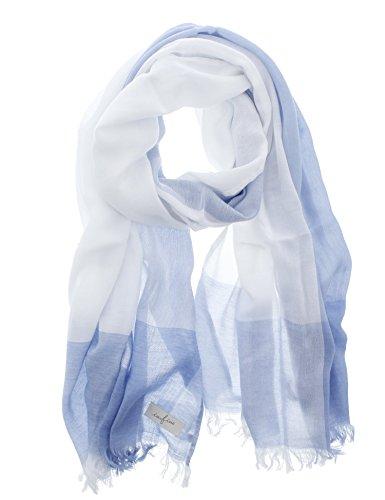 今治タオル ストール インフィーネ マルチチェック ブルー 約68×180cm