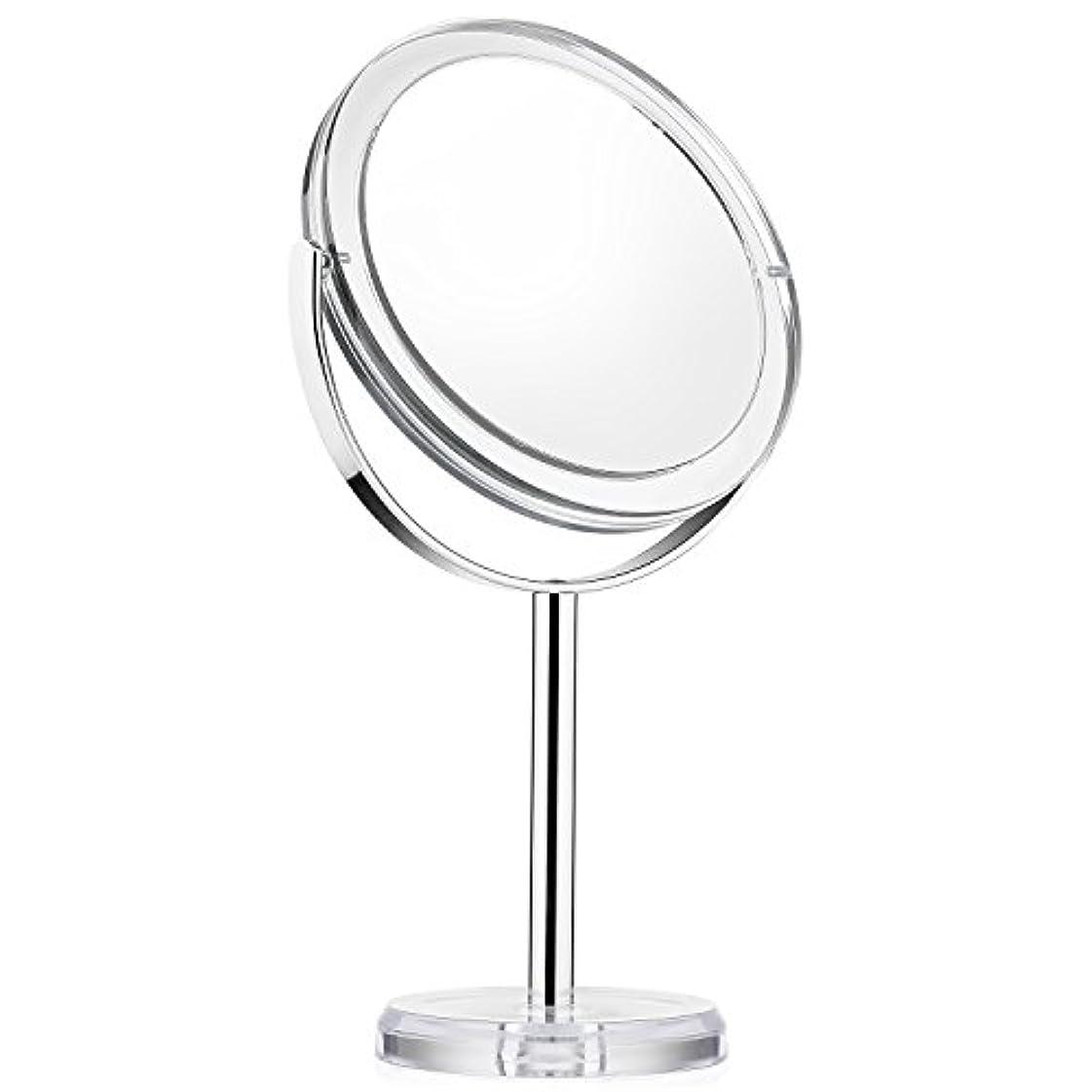 リボンそれからトレード化粧ミラー Beautifive 鏡 卓上 化粧鏡 メイクミラー 卓上ミラー スタンドミラー卓上 等倍卓上両面鏡 卓上鏡 7倍拡大スタンドミラー 360°回転可 光学レズン高解像度