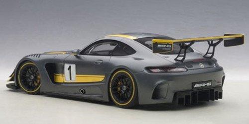 AUTOart 1/18 メルセデス・AMG GT3 プレゼンテーションカー グレー/イエロー・ストライプ