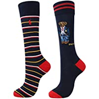POLO RALPH LAUREN All Over Preppy Polo Bear Socks - 2 Pack (899756PK)