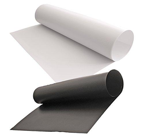 【iMakim's】 PVC 背景布 背景紙 商品 小物 撮影 白 黒 つや消し 定番2枚 セット
